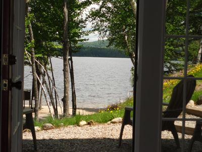 Photo for Silver Lake Home Within Feet of a Sandy Semi Private Beach With Great Lake Views