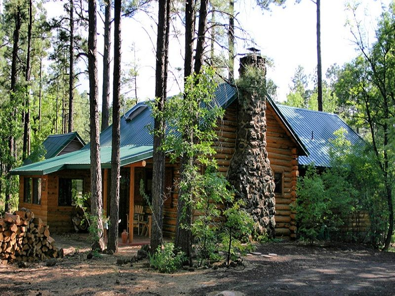 True Log Cabin So Relaxing With Great Patio And Jacuzzi
