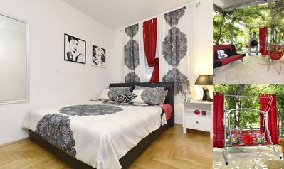 Photo for Apartment Anđela, A4+2 with a large terrace, garage, ...