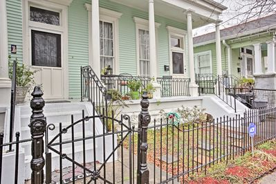 Located in the heart of Mid-City, this home is 1.5 blocks from the Fair Grounds.