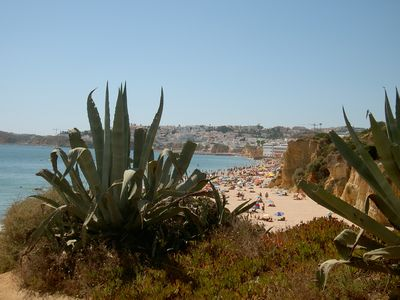 View of Albufeira from the beach