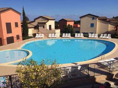 Photo for Apartment 4p with air conditioning in residence with pool Ile Rousse Lozari