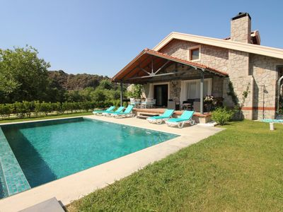 Photo for Dalyan 4 Bedroom Villa Alcedo. Dalyan Luxury Villa with Private Pool and Garden, weekly rental.
