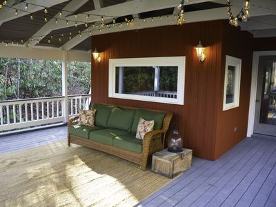 Photo for Tranquil Historic Carriage House Upper Residence (with serene deck in the trees)