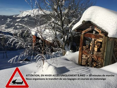 Photo for Alpine chalet in an idyllic setting, apartment sleeps 6