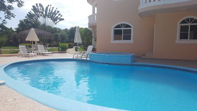 Photo for 6bd Party Villa Near Sosua, Guest-friendly, Pool/jacuzzi/tv/wi-fi/Billiard