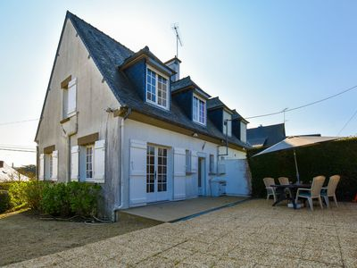 Photo for Semi-detached home with garden, 500m from the beach, golf course - Côte d'Armor