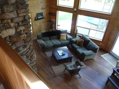 Living Room to gather, chat and enjoy the wood burning fireplace
