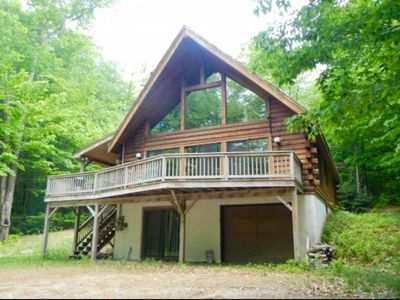 Photo for Log Cabin with Hot Tub - Perfect for family vacation and group getaways!