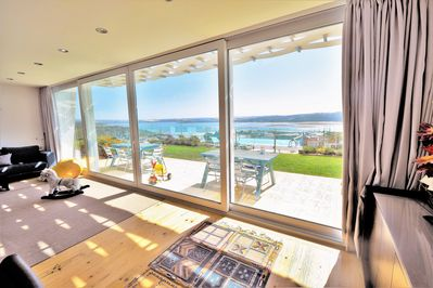 Living room sun terrace, overlooking superb views