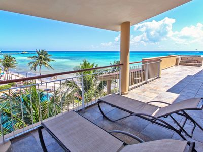 Photo for Beautiful Beachfront Ocean View Penthouse at El Faro - Reef 401