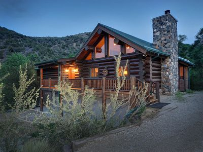 Photo for Beautiful Mountain Cabin on Greens Creek, 35 acres and 20 mins to ski Monarch