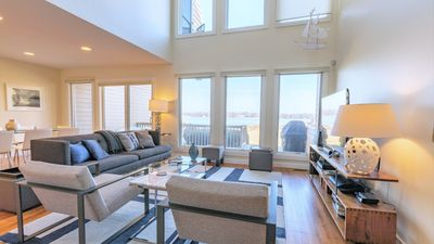 Photo for New Listing: Modern Waterfront Condo with Breathtaking Sunset Views, Close to Sag Harbor Excitement