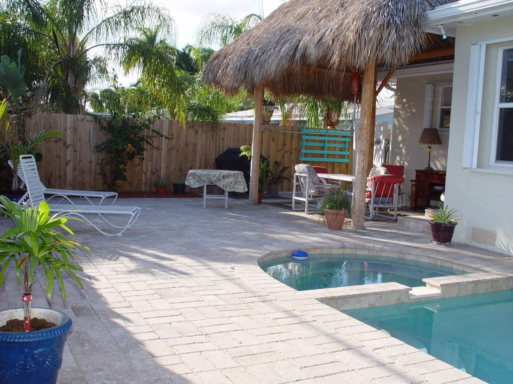 tropical dream tiki pool home perfect homeaway deerfield beach