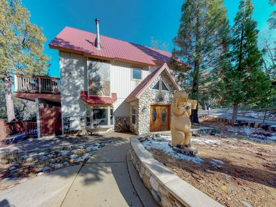 Photo for Spacious cabin w/ modern amenities & views offers nearby hiking, lake, & skiing!