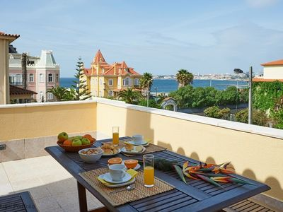 Photo for Sea View 3 BR modern apartment, sleeps 8 guests - perfect Sunset balcony