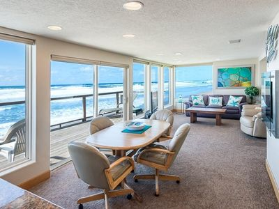 Photo for Hot Tub, Onsite Beach Access, 34ft+ of Windows with Ocean Views