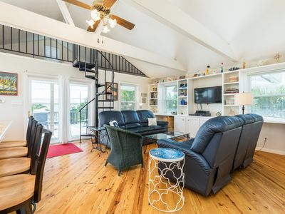Photo for Dog-friendly house with spacious deck only moments from the beach!