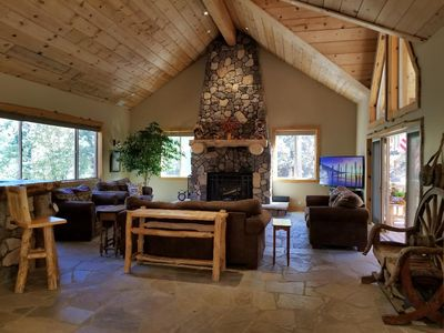 Spacious home at Bear Mountain borders national forest with beautiful views