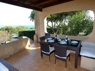 Photo for Only 80 metres from La Pelosa beach,  Sea view, Aircon and free WiFi
