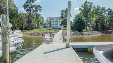 Photo for Luxury Lakehouse w/Breathtaking Views! Pool. Hot tub. Game room Boat Rental. Doc