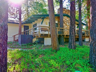 Photo for Meadow Lodge: Walk to Town w/ Spa, Game Room, A/C, Fenced Yard!