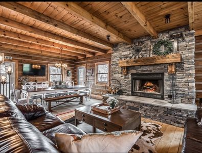 Great Room w/ wood burning fireplace
