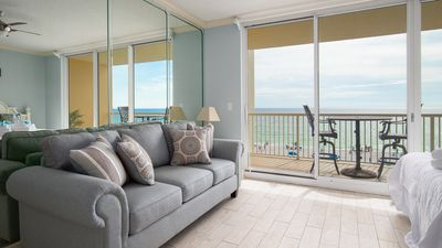 Photo for Ocean Front 3rd Floor Condo - Studio, 1 Bath - Sleeps 4! - Great Amenities