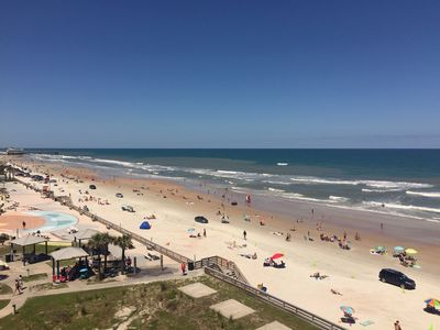 Daytime view from our balcony - another beautiful day at the beach!