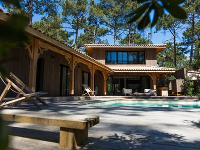 Photo for Wooden villa in Cap Ferret