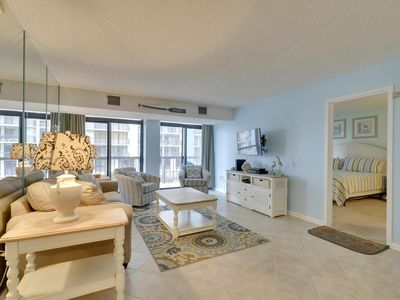 Photo for Completely Renovated with Ocean Views - Pool, Gym & Tennis