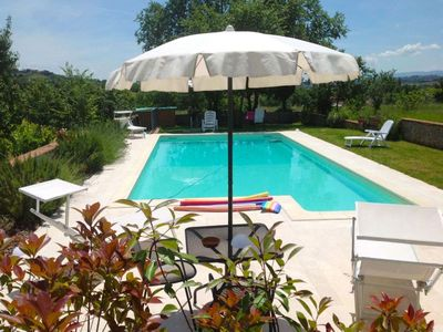 Photo for Part of old countryhouse  with private pool  5+3  people. Tv-Sat, wi-fi.  Province of  Arezzo.