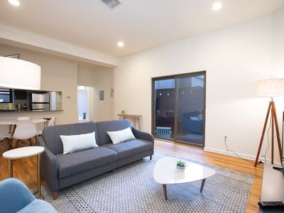 Photo for Stylish, Modern 1BR with Patio, 15 min to NYC