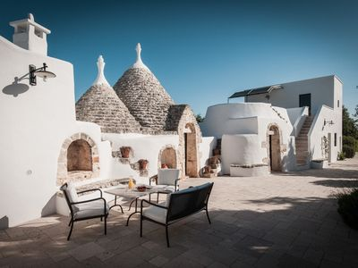 Photo for Character trullo in countryside near Ostuni with large swimming  pool + new WiFi