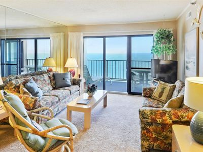 Photo for FREE DAILY ACTIVITIES! LINENS INCLUDED*! Direct Oceanfront 2  bedroom, 2  bath unit with semi-private den that can be closed off