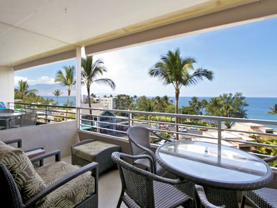 Photo for Upper floor condo,  recently updated,  close to sandy beach, oceanview lanai