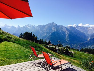 Photo for Luxury chalet in special location, surrounded by nature, superb views, sunny