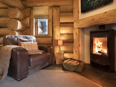Log burner to relax in front of