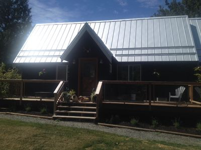 Photo for Beautiful Cedar West Coast River Front Home on quiet private acreage.