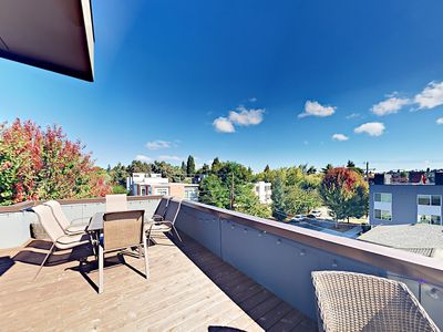 Photo for 2BR w/ Rooftop Deck & City View in Highly Walkable Location