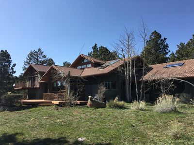 Photo for Beautiful 4-bedroom mountain Chalet on 47 acres in Boulder, CO