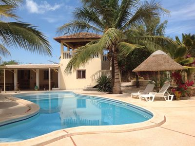 Photo for rooms or villa in private property 50m from the beach