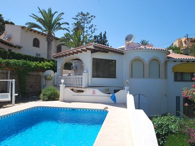 Photo for Holiday house directly at the sea, private pool, breathtaking sea views, air con