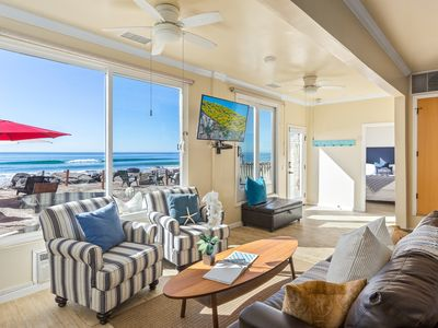 Photo for Oceanfront Unit in Oceanside, CA, Designer Decorated & A/C Equipped