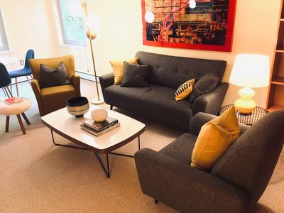 Photo for Modern Downtown Seattle Condo with a mid-century modern vibe