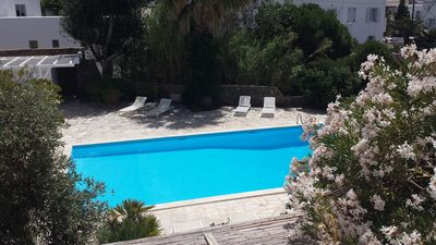 Photo for Hidden Gem. Quiet apartment with pool in Mykonos Town