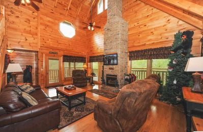 Photo for Amazing Cabin, Resort with Indoor/Outdoor  Pool, Mountain View,Hot Tub,Mini-Golf