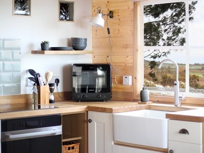 Photo for Luxury Scandi Cabin On A Hill, With Stunning Views Across Cornwall >NEAR ST IVES