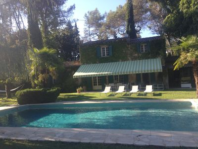 Photo for Typical Provencal farmhouse with pool on 4000 m² of land