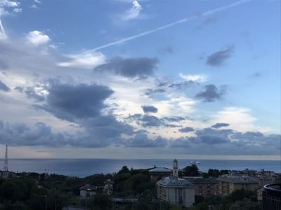 Photo for Sea View House in Genoa Quarto with parking and free wifi